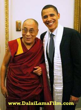 President Barack Obama (then Senator Obama) with the Dalai Lama at a 2005 Senate Foreign Relations Committee Event