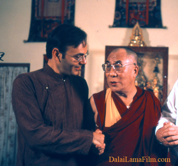Director Khashyar Darvich and His Holiness the 14th Dalai Lama