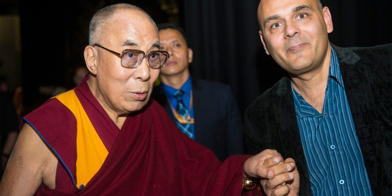 "In this photo, Director Khashyar Darvich meets H.H. the 14th Dalai Lama Sept 20 in London before the beginning of the Sept - Oct UK-Ireland film tour. After one of Darvich's interviews with the Dalai Lama, the Dalai Lama affirmed Darvich's and Wakan Films' motivations in producing films-- ""Yes I like your questions,"" the Dalai Lama told Darvich, as the two were standing together talking after the interview. ""Certainly, your effort can make some contribution—there's no doubt."""