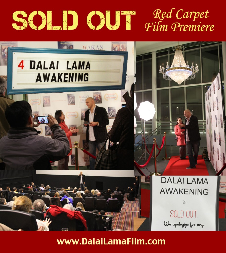 SOLD OUT Dalai Lama Awakening Documentary Film Red Carpet Premiere