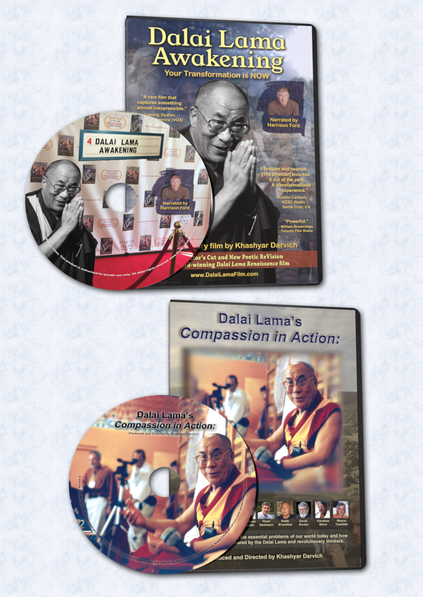 2 Dalai Lama DVDs: Dalai Lama Awakening and Compassion in Action