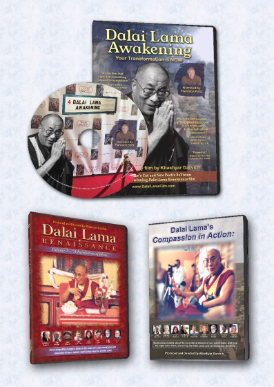 3 Dalai Lama DVDs - DLA, CIA and DLR Vol 2