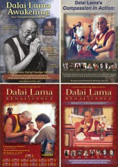 4 Dalai Lama Film DVDs - The complete Dalai Lama Film Experience