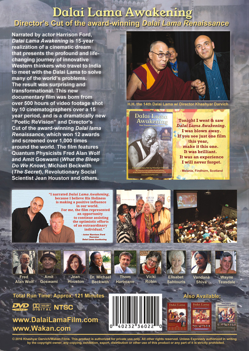 DVD: Dalai Lama Awakening Documentary Film (narrated by actor Harrison Ford) - BACK_DLA_DVD_cover_v3-1_2015-12-07_BACK_Cover_851x1200-optimized