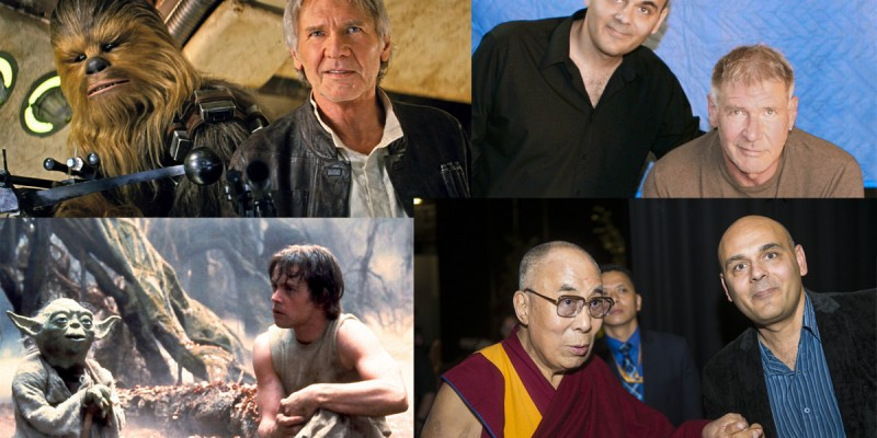 Harrison Ford, Yoda, the Dalai Lama, Star Wars, and Director Khashyar Darvich