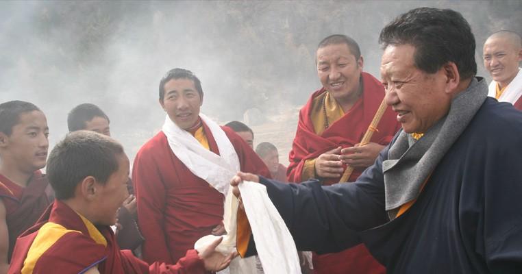 Akong Rinpoche of Samye Ling Tibetan Buddhist Monastery in Scotland