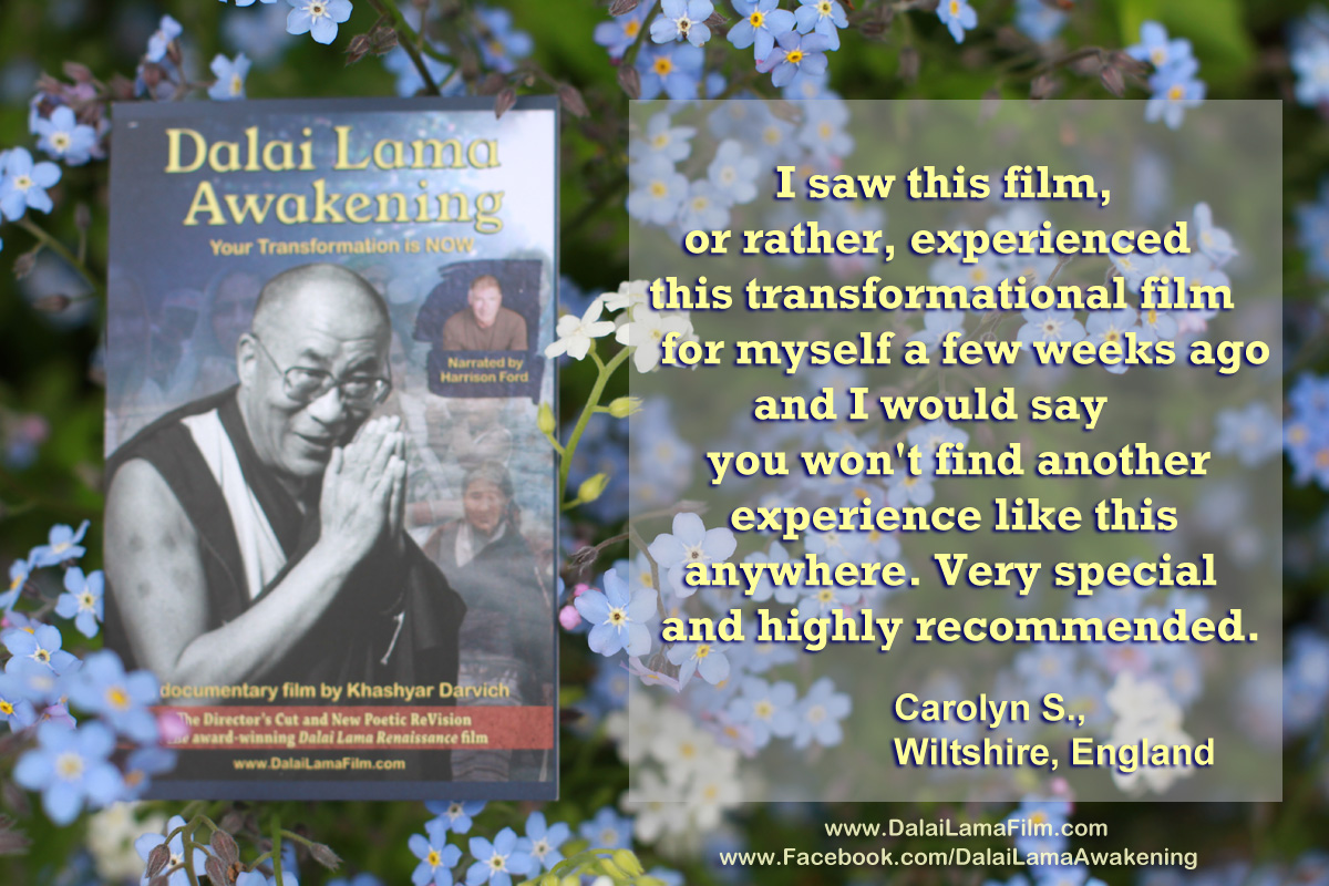 'Dalai Lama Awakening' Audience Quote - Carolyn - London
