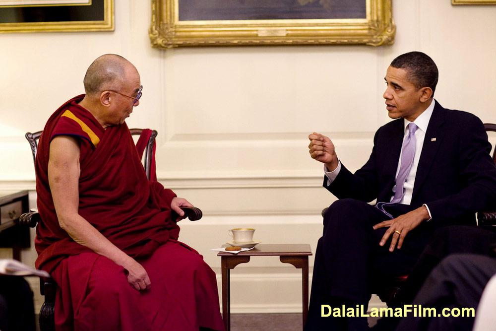 The Dalai Lama and President Barak Obama meet at the White House in Washington D.C. on February 18, 2010