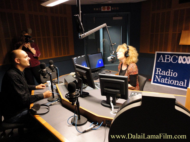 "Australia's National ABC Radio's Rachael Kohn interviewing 'Dalai Lama Renaissance' Producer-Director Khashyar Darvich on her national radio show ""The Spirit of Things"""