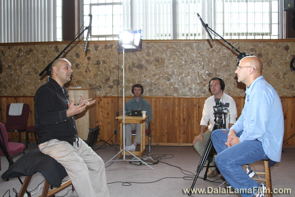 Dalai Lama Renaissance Documentary Film Director Khashyar Darvich interviews an inmate for his new film about personal and spiritual transformation within prison walls