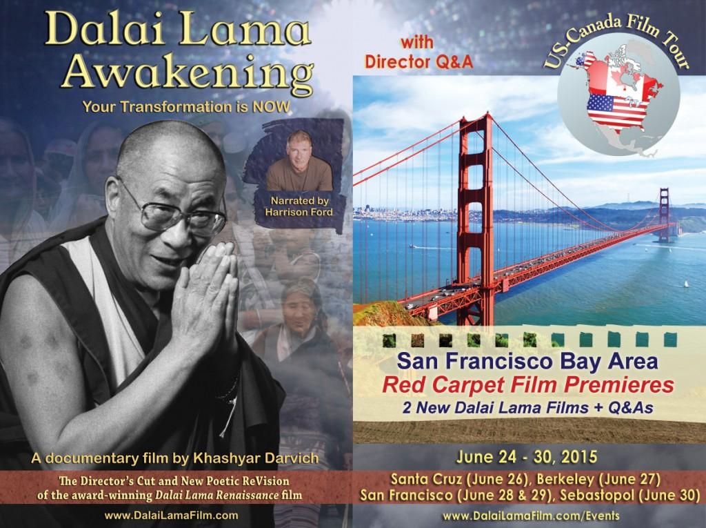 San Francisco Red Carpet Film Premiere of 2 new Dalai Lama Films