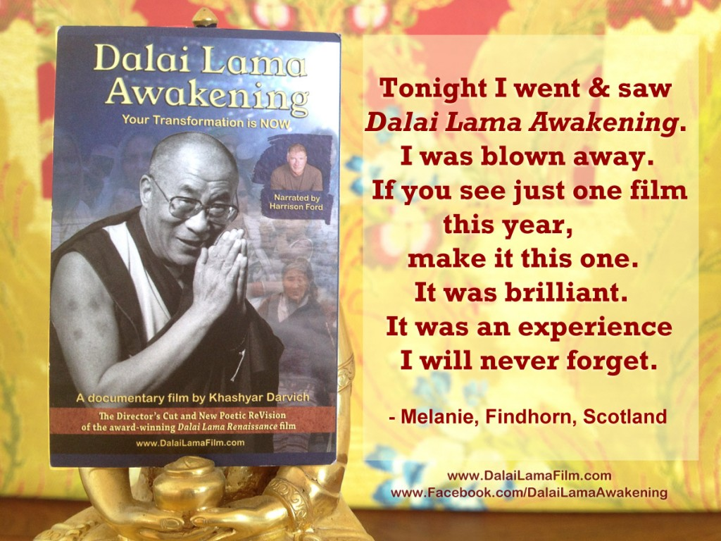 Audience Review: 'Dalai Lama Awakening' Documentary Film (narrated by Harrison Ford)