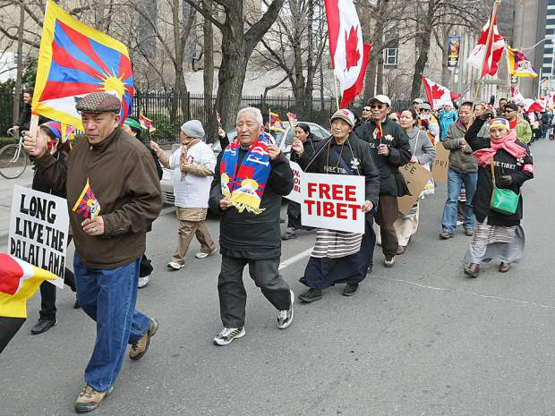 "Canadian-Tibetans protest a Toronto performance of film, song and dance dubbed ""Canada Tibet Cultural Week"""